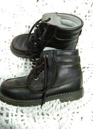 Демисезонные ботиночки из натуральной кожи. испания.