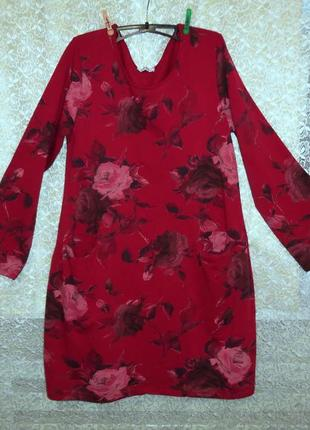 Платье new collection италия оверсайз бохо кокон баллон хлопок