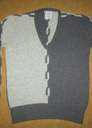 Кашемировая кофта lanvin оригинал свитер 100% кашемир hand intarsia