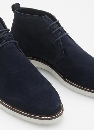 Продам ботинки reserved чукка р. 42 синие замшевые. новые.