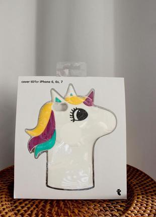 Оригинальный силиконовый чехол единорог {unicorn} для iphone 6, 6s, 7