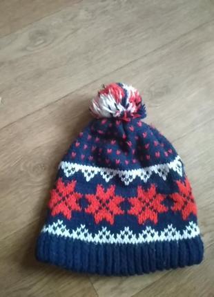 Зимняя шапка ч бубоном
