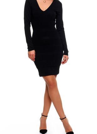 Черное осеннее платье от mango