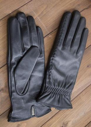 Женские кожаные сенсорные перчатки из очень качественной кожи2 фото
