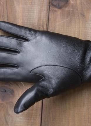Женские кожаные сенсорные перчатки из очень качественной кожи6 фото
