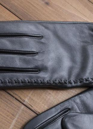 Женские кожаные сенсорные перчатки из очень качественной кожи4 фото