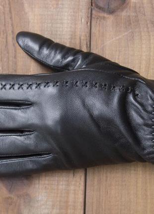 Женские кожаные сенсорные перчатки из очень качественной кожи5 фото