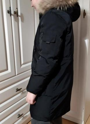 Зимний пуховик пальто идеальная зимняя куртка на школьника пух