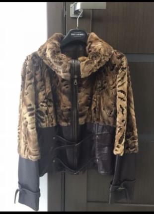 Норковая куртка,натуральный мех,кожа