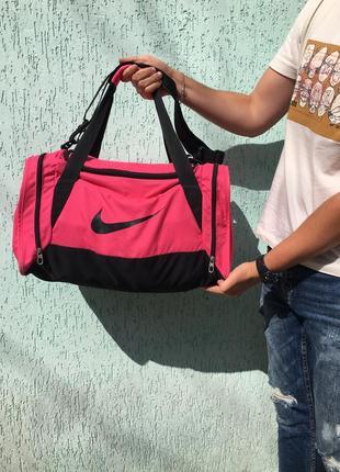 Женская сумка nike розовая