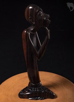 Антикварная статуэтка из черного дерева