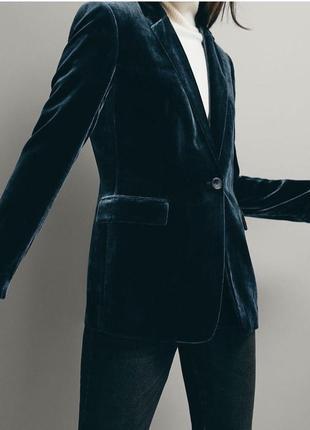 Вельветовый пиджак massimo dutti
