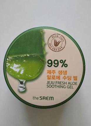 Многофункциональный гель с алоэ, the saem jeju fresh aloe soothing gel 99%, 300мл