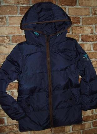Удлененный пуховик мальчику куртка  12 лет пух перо super jacket