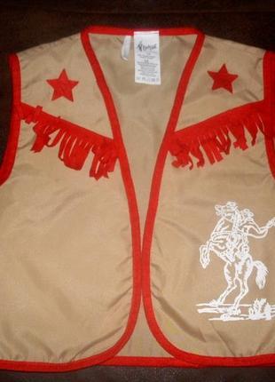 Жилет для костюма ковбоя шерифа ростом 128 см