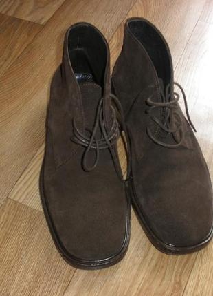 Кожаные мужские ботинки демисезонные gucci /р 40,5 /26,5 см