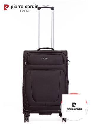 Pierre cardin unisex чемодан среднего размера