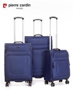Pierre cardin unisex чемодан для ручной клади5 фото