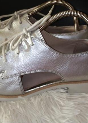 Clarks туфлі шкіра срібні