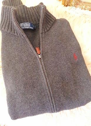 Хлопковый свитер на змейке #ralph lauren #оригинал