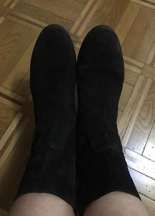 Кожаные ботинки на 26,5-27 см