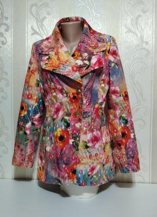 Крутой удлиненный яркий пиджак на теплой стеганой подкладке. daite