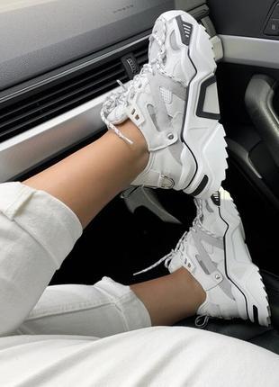 Шикарные женские кроссовки calvin klein white белые2 фото