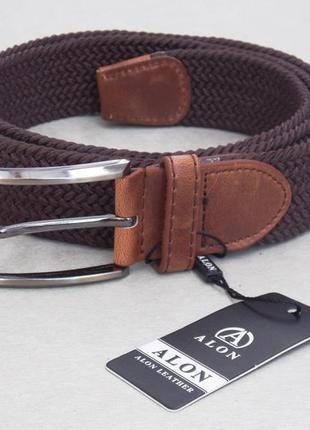 Текстильный мужской ремень alon коричневый