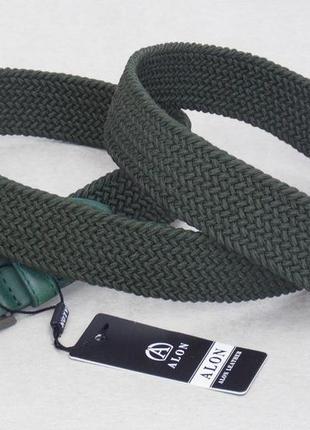 Текстильный мужской зеленый ремень alon