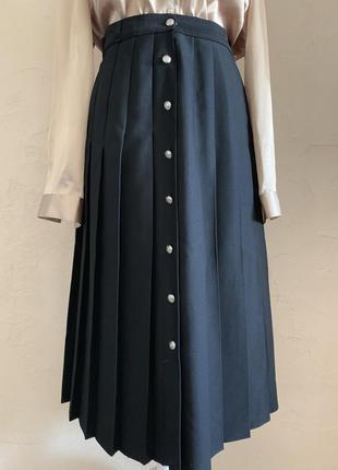 Винтажная осенняя юбка на пуговицах