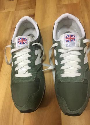 Мужские кроссовки new balance 420 замшевые размер 42,5 made in england