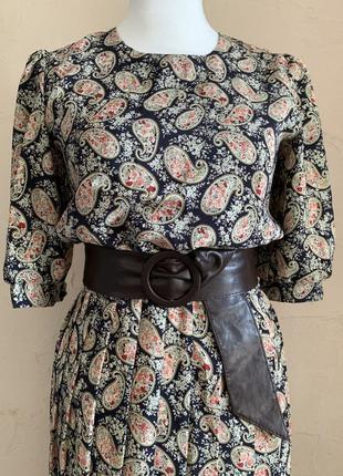 Винтажное осеннее платье
