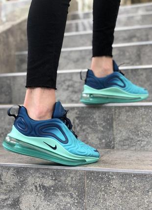 Шикарные женские кроссовки nike air max 720 синие с голубым2 фото