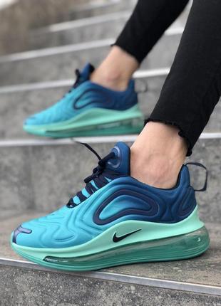 Шикарные женские кроссовки nike air max 720 синие с голубым