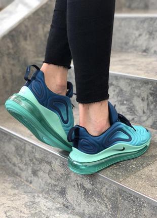 Шикарные женские кроссовки nike air max 720 синие с голубым4 фото