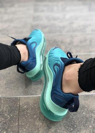 Шикарные женские кроссовки nike air max 720 синие с голубым6 фото