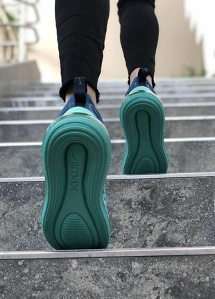 Шикарные женские кроссовки nike air max 720 синие с голубым5 фото
