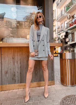 Стильный костюм пиджак+ юбка, нереально красивый, крутой костюм двойка, жакет