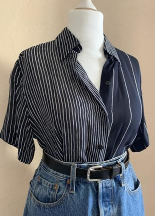 Интересная полосатая блуза