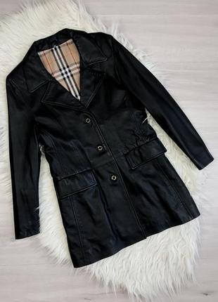 Оригинальный плащ пальто  с натуральной кожи burberry's