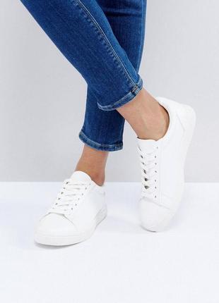 Белые кеды new look