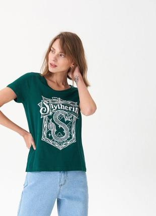 Новая зеленая футболка house harry potter slytherin гарри поттер слизерин герб