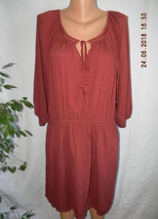 Новое натуральное вискозное платье george