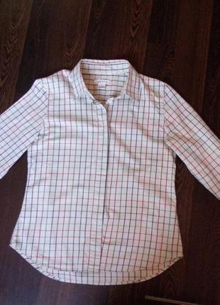 Рубашка в клеточку бренд orvis (орвис) размер s