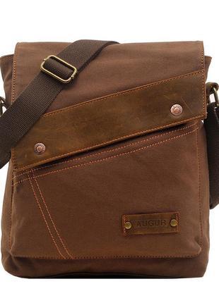 Маленькая, коричневая, мужская сумка