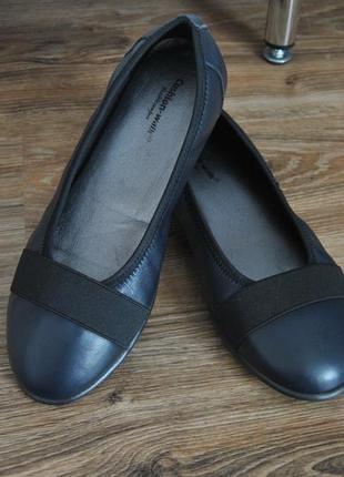 Кожаные балетки мокасины туфли cushion-walk / шкіряні туфлі