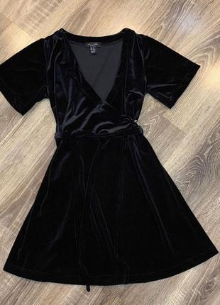 Платье бархат велюр на запах