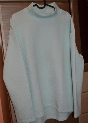 Мягусенький  пуловер из структурированной ткани серии актив от tchibo(германия)6 фото