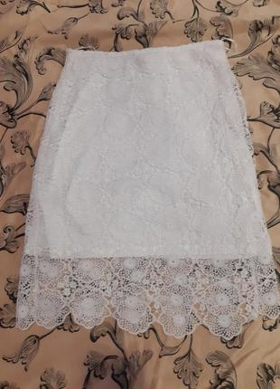Кружевная юбка из кружева спідниця