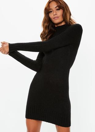 Теплое платье свитер водолазка